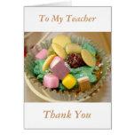 Las magdalenas a mi profesor le agradecen cardar tarjetas