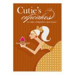Las magdalenas de Cutie - pasteles de los postres  Tarjetas De Visita