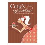 Las magdalenas de Cutie - pasteles de los postres  Tarjeta De Negocio