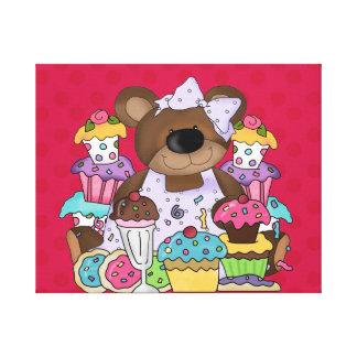 Las magdalenas, el helado y los osos oh mis… envol lona envuelta para galerías