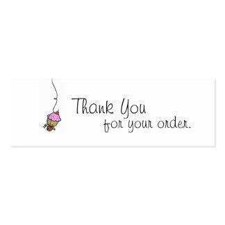 Las magdalenas le agradecen marcar con etiqueta tarjetas de visita mini
