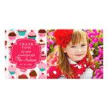 Las magdalenas rosadas modernas cualquier ocasión  tarjetas personales