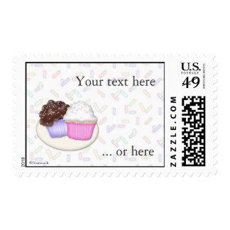 Las magdalenas y asperjan franqueo timbres postales