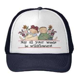 Las malas hierbas sean Wildflowers Gorros Bordados