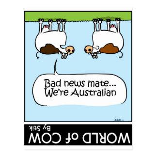 ¡Las malas noticias… somos Austrailian! Tarjetas Postales