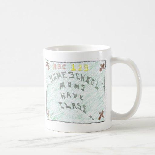 Las mamáes de Homeschool tienen clase pequeña taza