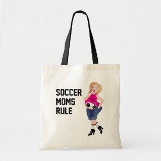 Las mamáes del fútbol gobiernan - el tote divertid bolsa tela barata
