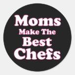Las mamáes hacen a los mejores cocineros etiquetas redondas