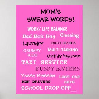 ¡Las mamáes juran las palabras - las cosas que hac Póster