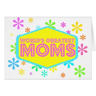 Las mamáes más grandes del mundo tarjeta