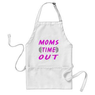 Las mamáes miden el tiempo hacia fuera del Barbell Delantal