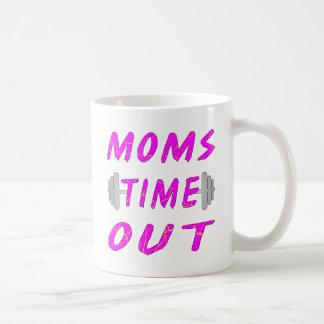 Las mamáes miden el tiempo hacia fuera del Barbell Taza De Café