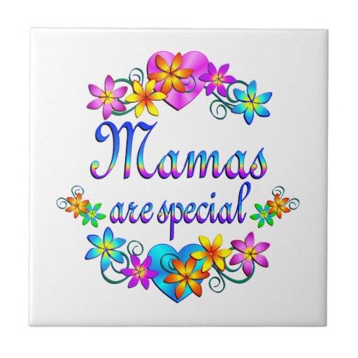 Las mamáes son especiales azulejo cuadrado pequeño