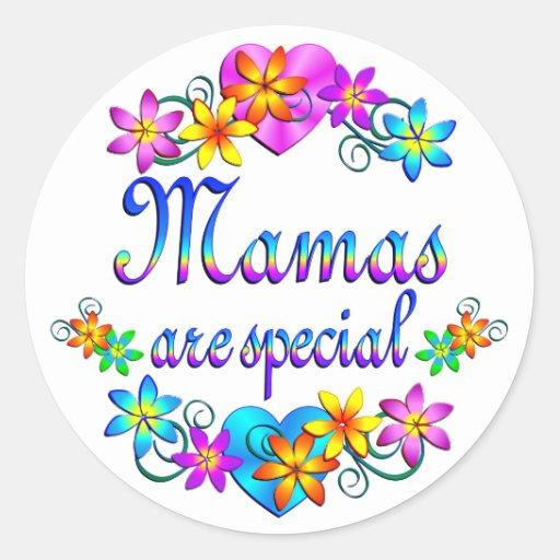 Las mamáes son especiales pegatina redonda