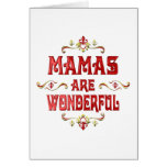 Las mamáes son maravillosas tarjeta