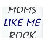 Las mamáes tienen gusto de mí de oscilar invitación 10,8 x 13,9 cm