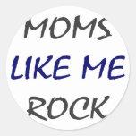 Las mamáes tienen gusto de mí de oscilar pegatinas redondas