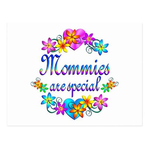 Las mamás son especiales tarjeta postal