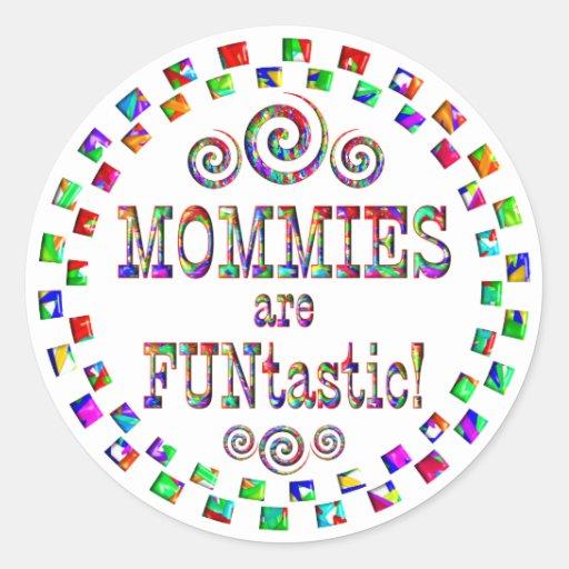 Las mamás son Funtastic Pegatina