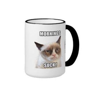 Las mañanas gruñonas de Cat™ chupan Tazas