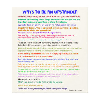 Las maneras de ser un Upstander v II envolvieron Impresiones De Lienzo