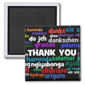 Las maneras múltiples de decir le agradecen en muc imán cuadrado