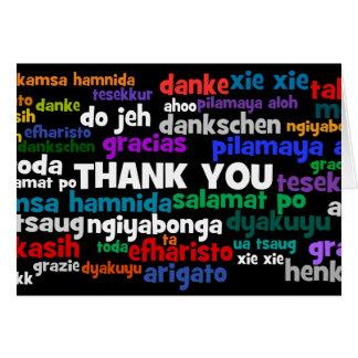 Las maneras múltiples de decir le agradecen en muc tarjetas