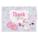 Las manoplas del muñeco de nieve del país de las tarjeta pequeña