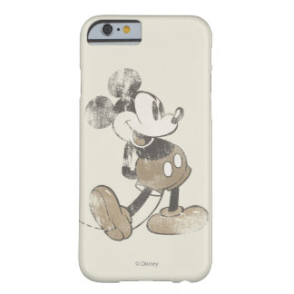 Las manos clásicas del vintage de Mickey el | Funda Para iPhone 6 Barely There