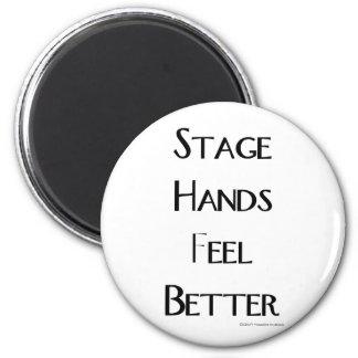 Las manos de la etapa sienten mejor iman