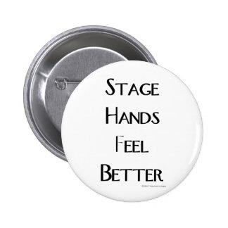 Las manos de la etapa sienten mejor pin