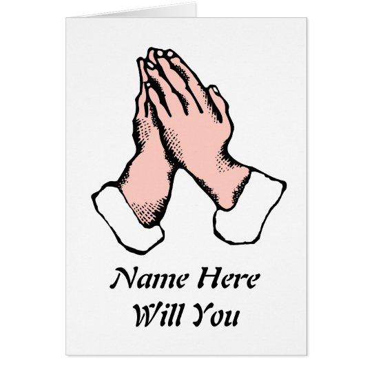 Las manos del rezo le quieren sean mi tarjeta de l