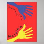 Las manos están para ayudar posters
