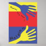 Las manos están para el poster de ayuda