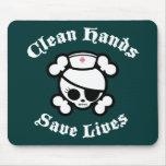 Las manos limpias ahorran vidas alfombrillas de raton