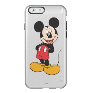 Las manos modernas de Mickey el   detrás apoyan Funda Para iPhone 6 Plus Incipio Feather Shine