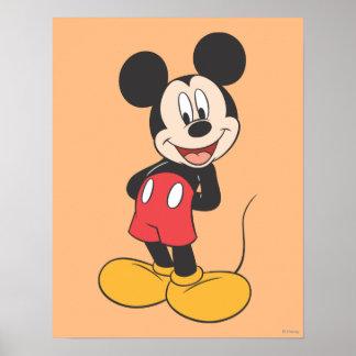 Las manos modernas de Mickey el | detrás apoyan Póster