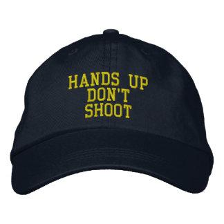 Las manos para arriba no tiran gorra de béisbol