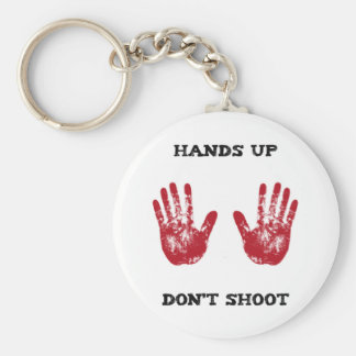 Las manos para arriba no tiran, la solidaridad llavero redondo tipo pin