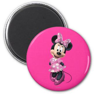 Las manos rosadas de Minnie el | detrás apoyan Imán Redondo 5 Cm