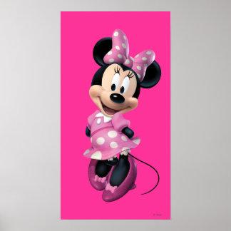 Las manos rosadas de Minnie el | detrás apoyan Póster