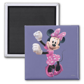 Las manos rosadas de Minnie el | suben y baile Imán Cuadrado