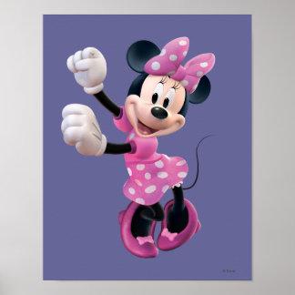 Las manos rosadas de Minnie el | suben y baile Póster