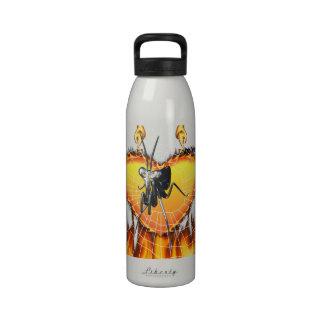 Las mantis religiosas cromadas diseñan 2 con el fu botellas de agua reutilizables
