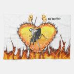 Las mantis religiosas cromadas diseñan 2 con el fu toalla de mano