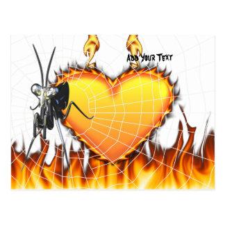 Las mantis religiosas cromadas diseñan 2 con el fu postales