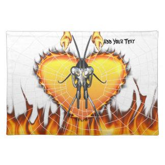 Las mantis religiosas cromadas diseñan 3 con el fu mantel individual