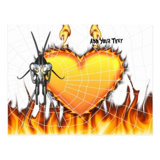 Las mantis religiosas cromadas diseñan 3 con el fu tarjeta postal