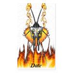 Las mantis religiosas cromadas diseñan 3 con el fu tarjeta de negocio