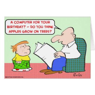 las manzanas crecen cumpleaños del ordenador de lo felicitacion